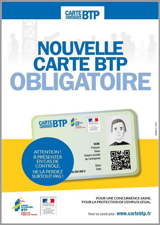 Carte pro BTP