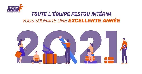Bonne Année 2021 Festou Intérim